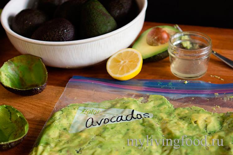 Как заморозить пюре авокадо