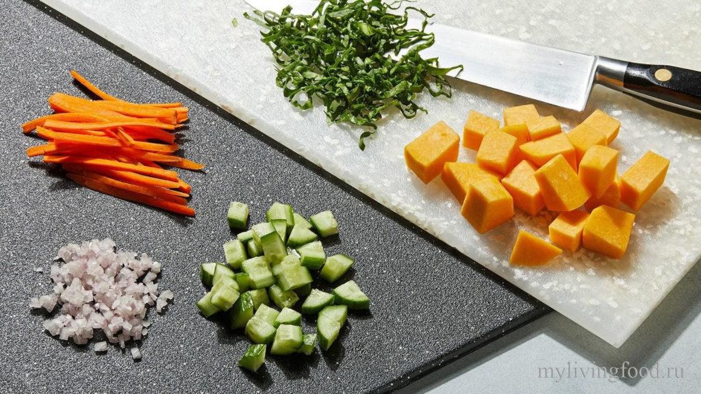 Формы нарезки овощей.