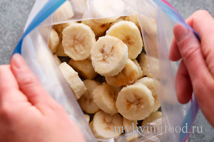 Заморозить бананы