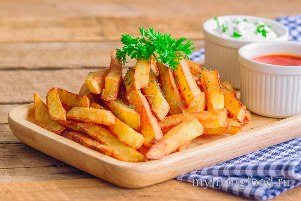 картофеля фри бланшируют в масле