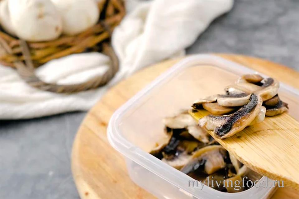 Замороженные жареные грибы