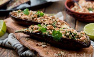 Баклажаны с зеленью и орехами